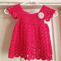 Crochet For Children: Angel pop-over dress - Free pattern