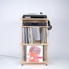 Line Phono: Turntable Station Turntable Stand + Vinyl Storag.- Line Phono: Turntable Station Turntable Stand + Vinyl Storage, Made In the USA - Best Record Player, Record Player Stand, Record Players, Record Shelf, Vinyl Record Storage, Audiophile Turntable, Turntable Setup, Home Music, Houses