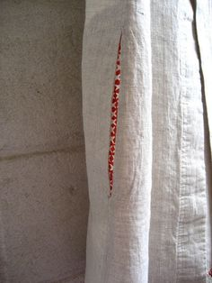 plain linen with pretty lined pockets.  by Handpicked, via Flickr