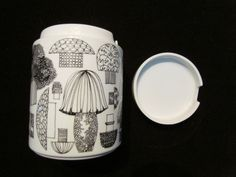 NOT enamel... Rare Vintage Kaj Franck for Arabia Finland Ceramic Mushroom Jar