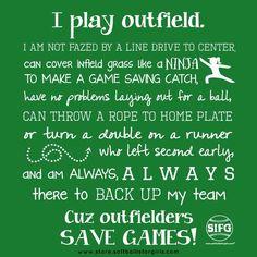 Get your outfielder a shirt for the holidays  Www.store.softballisforgirls.com