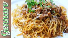 """~ Spaghetti Bolognese ~ This is one of the world's favorite dishes, and so simple to make! ChefGennaro makes it strictly """"Italian,"""" using his tried and tested methods which have been passed down through the years!  We Love Ya, Dominic & Frank #EverybodyLovesItalian www.EverybodyLovesItalian.com"""