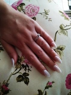 Almond acrylic nails 2018