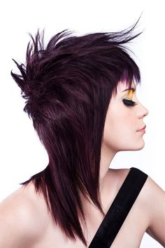 Long Black straight hairstyles provided by Salon Visage.