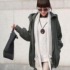 Ladies hoodies | RIVER Women's Pure Color Elastic Lap Thick Hoodie Coat Deep Grey - USD ...
