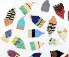 Fringe Earrings Tassel Jewelry Southwestern Style Beaded