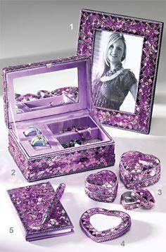 Xhilaration Sequin Jewelry Box with Photo Frame 306 H x 90