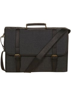 Grey Fabric Briefcase ($20-50) - Svpply