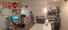 Welcome to my studio! When Cheryl Sleboda asked me to join the Spring Cleaning hop again, her timing was perfect. Quilting Room, Spring Cleaning, Corner Desk, Studio, Furniture, Design, Home Decor, Corner Table, Decoration Home