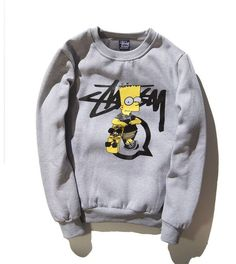 Stussy x Bart Collab Sweatshirt. Very comfortable o-neck fit. Material: Premium Cotton