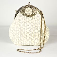 Nothing like a beautiful vintage purse    1950s Lumured Evening Bag by Vintage Junkys