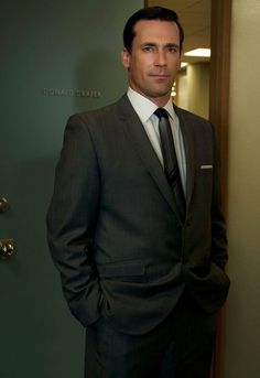 John Hamm as Don Draper is always dressed to perfection. Mad Men has amazing tailored suits for each individual cast member.