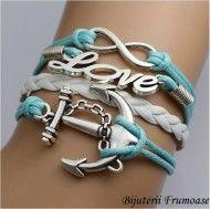 Llove vintage leather bracelets braided anchor http://www.bijuteriifrumoase.ro/cumpara/llove-vintage-leather-bracelets-braided-anchor-975