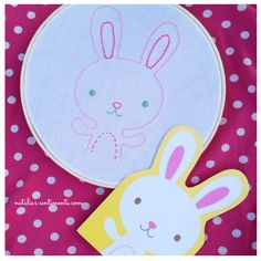 Easter or nursery Embroidery. Just find something to trace! #yearofcelebrations