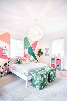 Miami Inspired Toddler Bedroom