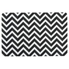 Shop Modern Chevron Stripe Black White Floor Mat created by ZizzagoHomeDecor. Hipster Gifts, Striped Background, Some Text, Floor Mats, Postcard Size, Zig Zag, Smudging, Paper Texture, Retro Fashion