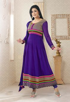 Shop Online With Confidence Today This Festive Wear Anarkali Dress With Chudidar .  Shop away - http://gravity-fashion.com/16018-festive-wear-anarkali-dress-with-chudidar-.html