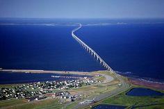 The Confederation Bridge linking Prince Edward Island and New Brunswick, Canada