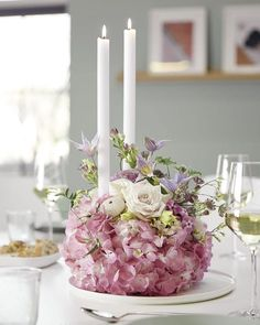 Table Flower Arrangements, Table Flowers, Sweet Home, Candles, Table Decorations, Spring, Beautiful, Home Decor, Rooms