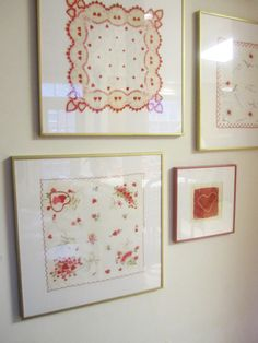 Framing Vintage Hankies