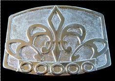 Patriots Lys Flower Quebec Fleur d lys Belt Buckle Boulce de Ceinture #Quebec #fleurdelis #fleurdelys #labelleprovince #beltbuckle