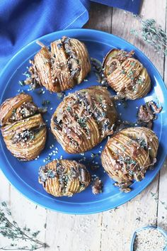 Roasted Hasselback Potatoes with Sweet Fig, Caramelized Onion and Mushroom | TWO SPOONS | Plant-based recipes worth sharing