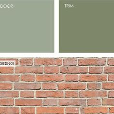 front door color for green shutters - Google Search