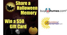 Halloween Memories Contest--Enter to win a $50 gift certificate from BuyCostumes.com Gift Certificates, Giveaway, Sunshine, Memories, Halloween, Cards, Gifts, Memoirs, Favors