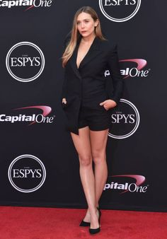 Actress Elizabeth Olsen arrives at the 2017 ESPYS at Microsoft Theater on July 12 2017 in Los Angeles California
