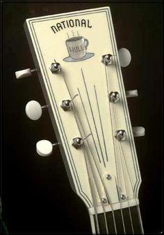 National Headstock – model unknown... anybody??? Unique Guitars, Vintage Guitars, Custom Acoustic Guitars, Lap Steel Guitar, Bass Amps, Mandolin, Electric Guitars, Ukulele, Blues
