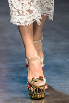 Dolce & Gabbana Fall 2013 Ready-to-Wear Collection Rose cage platform