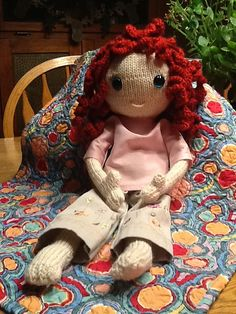 she looks so sweet and innocent -   hand made by Lisa - http://www.ravelry.com/people/leisakaye3