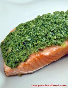 Pavé de saumon au pesto