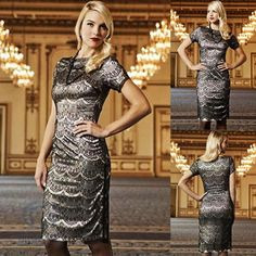 Sexy White Casual Black Lace Midi Dress Formal Prom Cocktail Party Evening Gown #WigglePencil #Casual