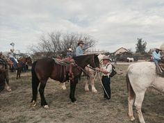 Getting ready to saddle up for the spring trail ride at Empire Ranch.