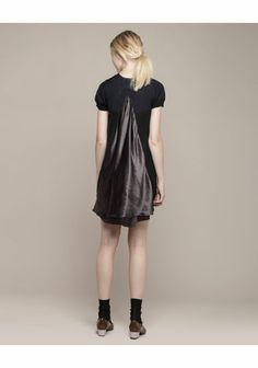 Sacai Luck Bi-Color Split Back Dress