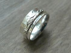 Sterling silver spinner ring worry ring fidget by WatchMeWorld