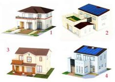 Papercraft Templates   papercraft: 4 types of Japanese modern houses with free templates ...