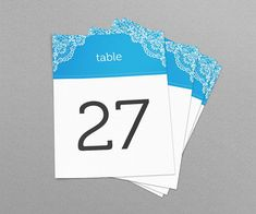 Greek Theme Lace Wedding & Event Table Numbers Printable