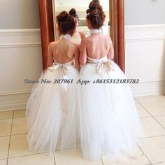 Find More Flower Girl Dresses Information about 2015 White Flower Girl Dresses For Wedding Halter Backless Sashes Bow Tulle Ball Gown Floor Length Girls Pageant Dresses,High Quality dress children girl,China dress up pageant girls Suppliers, Cheap girls plaid school uniforms from Romantic bride wedding dress Suzhou Co., Ltd. on Aliexpress.com