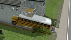 This Sim who came home to discover a school bus on his front porch.   Community Post: 16 Sims That Are Having A Worse Day Than You