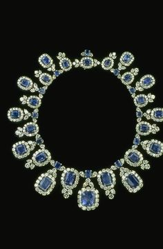 Photograph of the Hall sapphire and diamond necklace (G8044). Photo by Chip Clark.