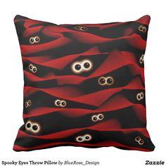 Spooky Eyes Throw Pillow