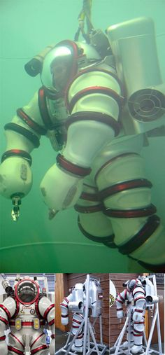 Another piece of incredible tech following on from ideas only previously seen in the movies. Remember Sigourney Weaver in Aliens well now introducing the Exosuit developed by Nuytco an inner space suit capable of diving to 1000m. Hope they've included a convenience zip!! http://nuytco.com/products/exosuit/