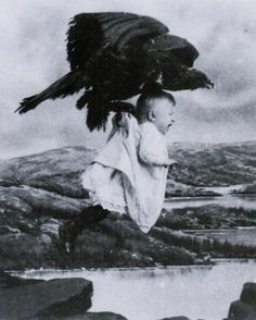 """Still from 1908 silent Film """"Rescued from the Eagle's Nest"""""""