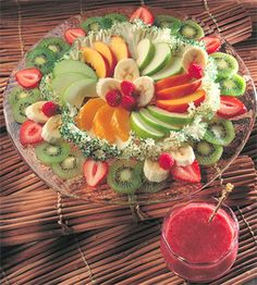 Fruit Salad Platter with Strawberry Vinaigrette.  This was a really good fruit salad and the dressing was tangy and sweet.