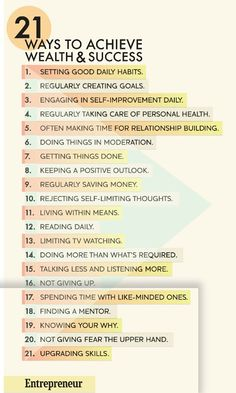 21 Ways to Wealth and Success