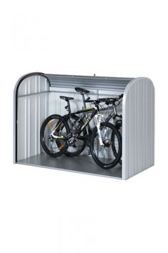 StoreMax from Biohort is ideally suited as a bicycle garage Bicycle Storage Shed, Bike Storage Rack, Bike Shed, Motorbike Storage, Bicycle Garage, 12x8 Shed, Farmhouse Sheds, Barn Style Shed, Corner Sheds