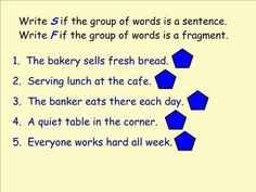 Sentence Fragments to Complete Sentences | Activities, Sentence ...