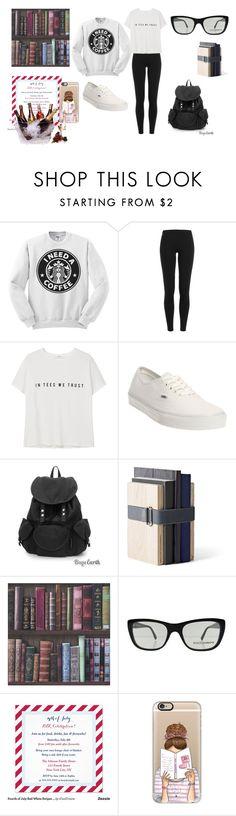 """university"" by ilenia-aretusi ❤ liked on Polyvore featuring Polo Ralph Lauren, MANGO, Vans, Menu, Dolce&Gabbana, Casetify and Prodyne"